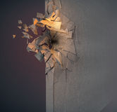 Image of broken concrete wall Royalty Free Stock Image