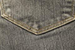 Image brouillée d'abstraction de fin vers le haut de texture des jeans bleus de denim de poche arrière images stock
