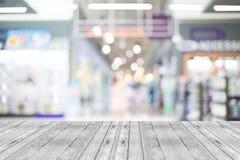 Image brouillée de centre commercial et de fond de bokeh Images libres de droits