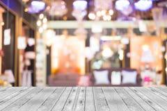 Image brouillée de centre commercial et de fond de bokeh Photos stock