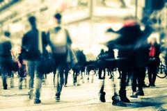 Image brouillée de rue de ville de nuit Hon Kong Image libre de droits