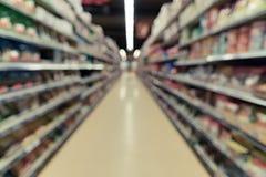 Image brouillée de supermarché images libres de droits