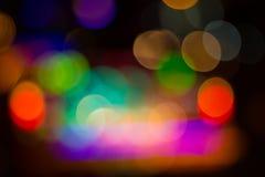 Image brouillée des lumières de fête colorées qui peuvent être employées comme CCB Images stock