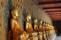 Image of budda. Setting-up in royal temple thailand Stock Photography