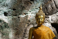 Image of buddha. In the cave , Thailand Stock Photography
