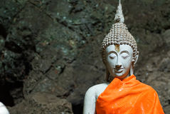 Image of buddha. In the cave , Thailand Royalty Free Stock Photo