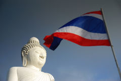 Image of Buddha. In thailand &Thai flag Stock Image