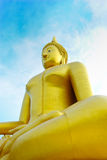 Image of Buddha. Picture sits big  in Thailand Royalty Free Stock Photos