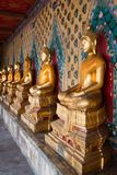 The image of Buddha arranges that temple cloister Stock Photo