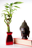 Image of Buddha and Bamboo Stock Images