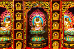 The image of buddha in buddha tooth relic temple in Singapore Stock Photography