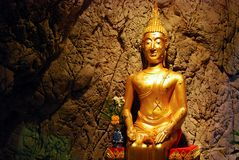 Image of Buddha in The Cave Stock Photos