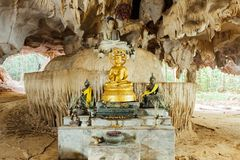 Image of Buddha in the cave. Tiger Cave Temple, Krabi, Thailand Stock Photography
