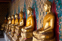 The image of Buddha that a cloister Royalty Free Stock Photos