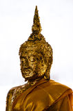 Image of Buddha with Faith with gold leaf Stock Photography