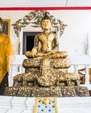 Image of Buddha with gold leaf Stock Photography
