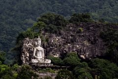 Image of buddha. Landscape mountain view and image of buddha Stock Photos