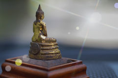 Image of Buddha light reflect Royalty Free Stock Images
