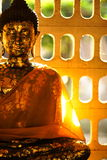 Image of the Buddha. With the morning sun Royalty Free Stock Photo