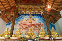 Image of buddha and mural Stock Images