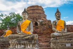 Image of Buddha. This photo are Image of Buddha taken at Thai temple in Ayutthaya Thailand Royalty Free Stock Photo