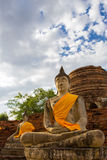 Image of Buddha. This photo are Image of Buddha taken at Thai temple in Ayutthaya Thailand Royalty Free Stock Images