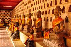 Image of Buddha in a row Royalty Free Stock Photography