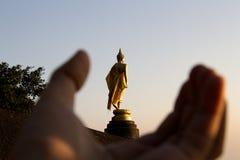 Image of buddha set on the stone Royalty Free Stock Photo