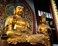 Image of buddha - Shanghai. An Image of Buddha in Temple, Shanghai, China Stock Photos