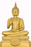 Image of buddha is sitting. Look like tell everyone stop to do evilness royalty free stock image