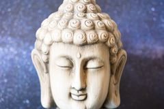 Image of a buddha. With a space background Royalty Free Stock Image