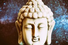 Image of a buddha with a space. Background Stock Photography