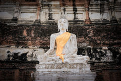 The image of Buddha. In the temple Royalty Free Stock Photography
