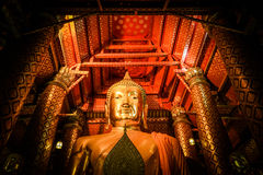 The image of Buddha. In the temple Stock Photos