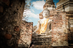 The image of Buddha. In temple Stock Photo