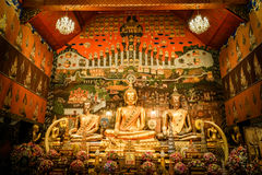 The image of Buddha. In temple Royalty Free Stock Photography