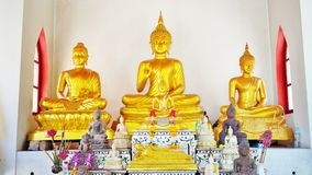 Golden Buddha Statue. Statue of Buddha in thai Buddhist temple Royalty Free Stock Photography