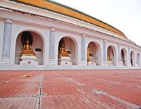 Image of Buddha in Thailand. Wat Phra Pathom Chedi the holy place of Thailand Stock Image