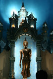 Image of Buddha. In the Top of erawan museum thailand Stock Image