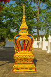 Image of Buddha at Wat Huay Mongkola. This photo is boundary marker of atemper Stock Image