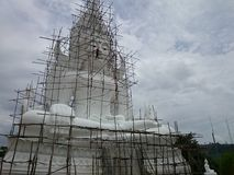 Image-of-Buddha. White big Thailand painting royalty free stock images
