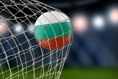 Bulgarian soccerball in net. Image of Bulgarian soccerball in net Royalty Free Stock Photo
