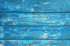 Image of bumpy vintage wooden background painted with blue paint Royalty Free Stock Photos