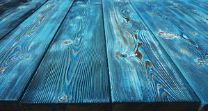 Image of bumpy vintage wooden background painted with blue paint Stock Photo