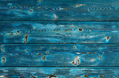 Image of bumpy wooden background painted with blue paint Stock Photos