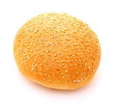 Image of bun for hamburger on white background Stock Images