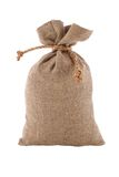 Image of burlap sack the tied Royalty Free Stock Photography