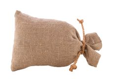 Image of burlap sack the tied Royalty Free Stock Photo