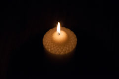 The image of burning candle Stock Photo