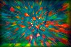 BURST OF COLOURFUL BLOTCHES. Image of burst effect with blue, green, turquoise yellow and red colours royalty free stock image